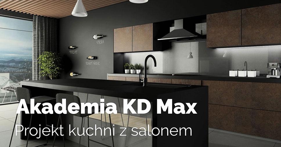 Akademia KD Max – Projekt kuchni z salonem. Odcinek 4: Biblioteka