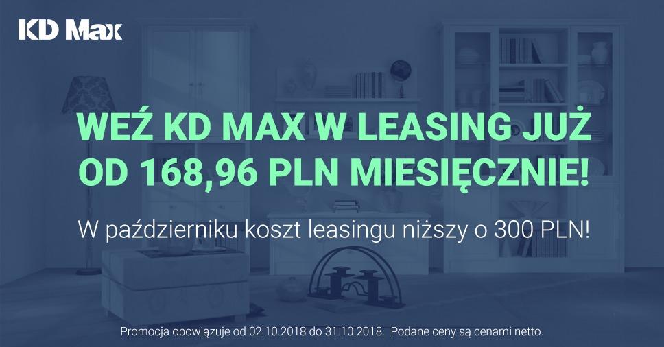 Promocja: Weź KD Max w leasing!