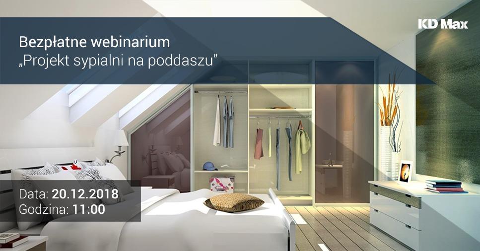 Bezpłatne webinarium: Projekt sypialni na poddaszu