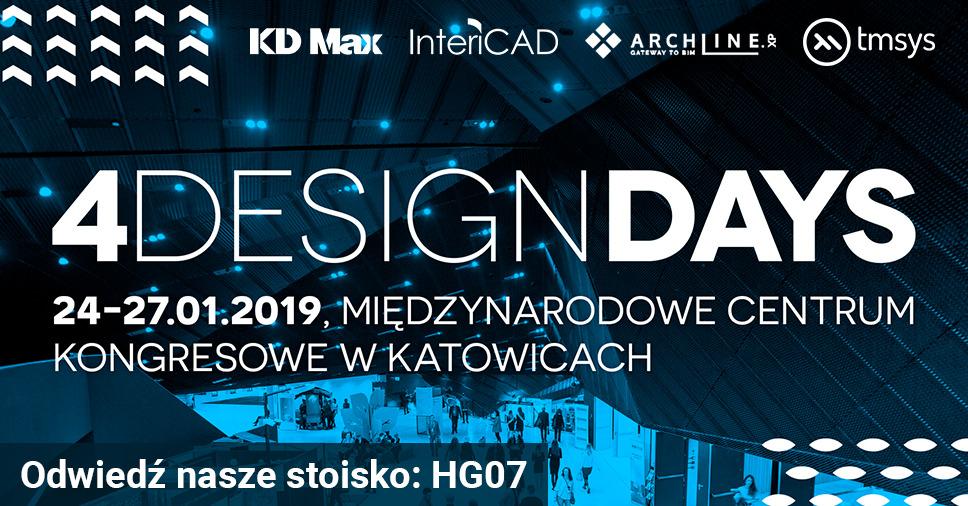 Odwiedź stoisko KD Max podczas targów 4 Design Days 2019 w Katowicach
