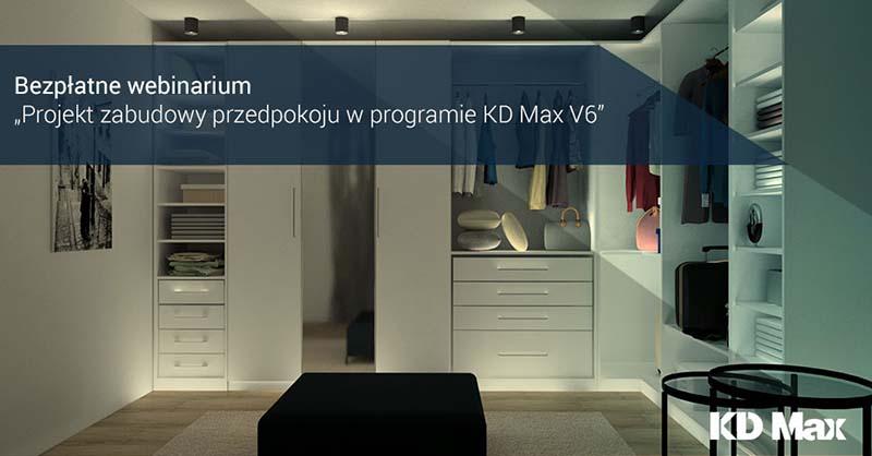 Webinarium: Projekt zabudowy przedpokoju w programie KD Max V6